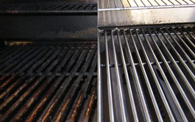 Steam Cleaning the Barbeque Grill